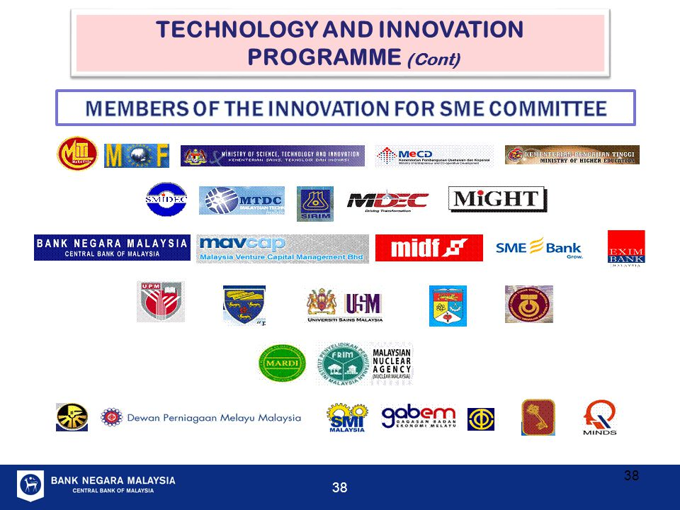 TECHNOLOGY AND INNOVATION PROGRAMME (Cont)