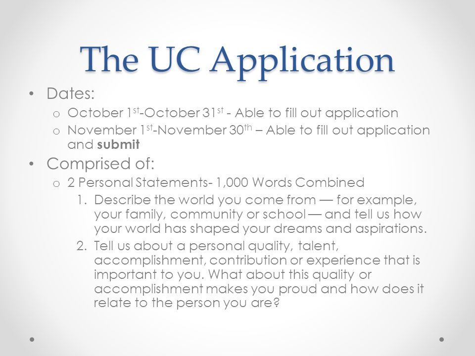 uc describe the world you come from essay Describe the world you come from for example, your family, clubs, school, community, city, or town how has that world shaped your dreams and aspirations tell us about the most significant challenge you've faced or something important that didn't go according to plan.