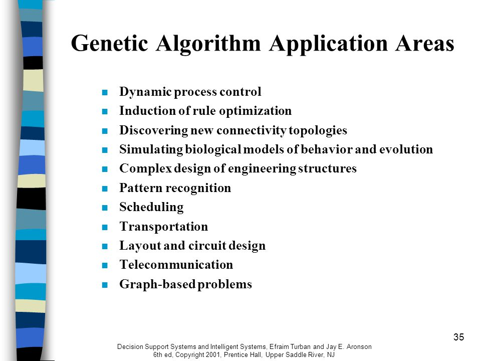 genetic algorithm Genetic algorithms have been applied in a vast number of ways this discussion is limited to the optimization of a numerical function following the convention of computer programs, the problem will be considered to be a minimization.
