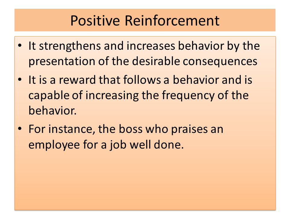 Types of Operant Conditioning