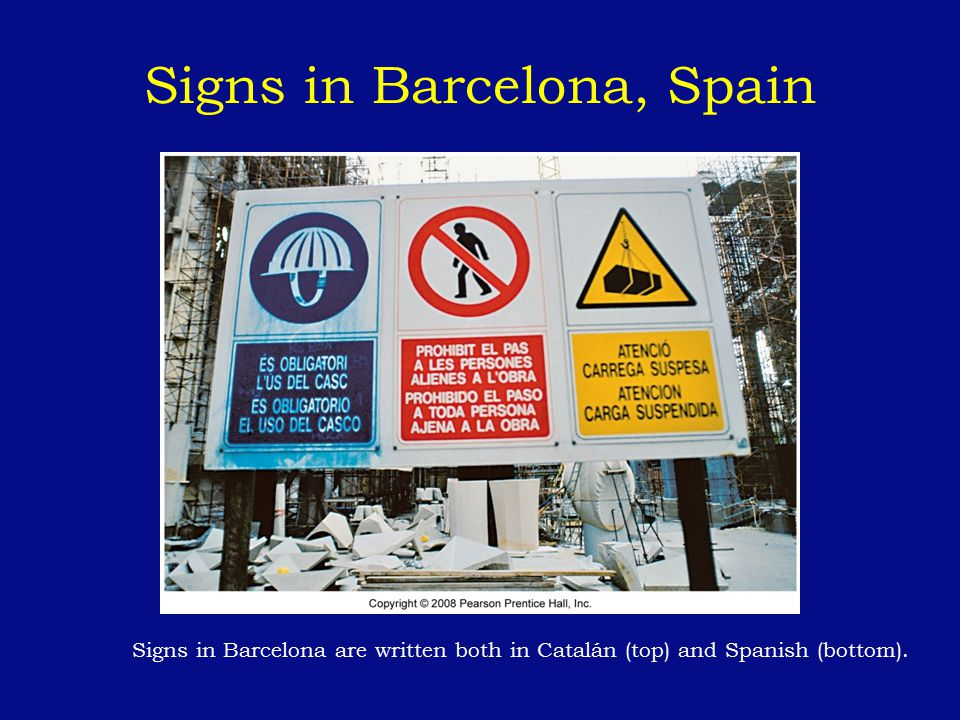 Signs in Barcelona, Spain