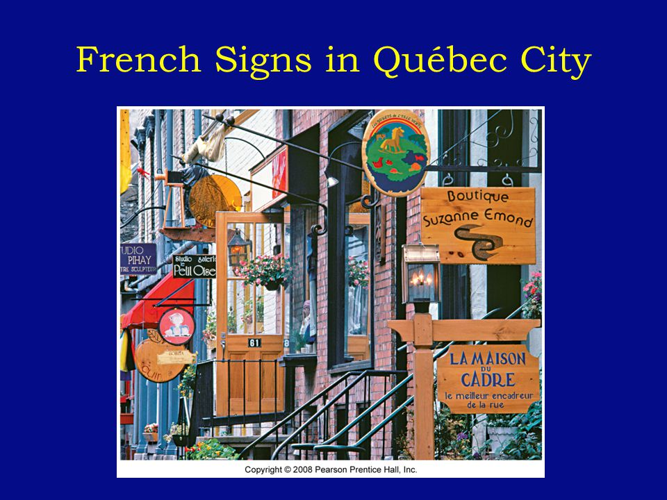 French Signs in Québec City
