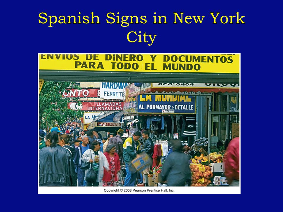 Spanish Signs in New York City