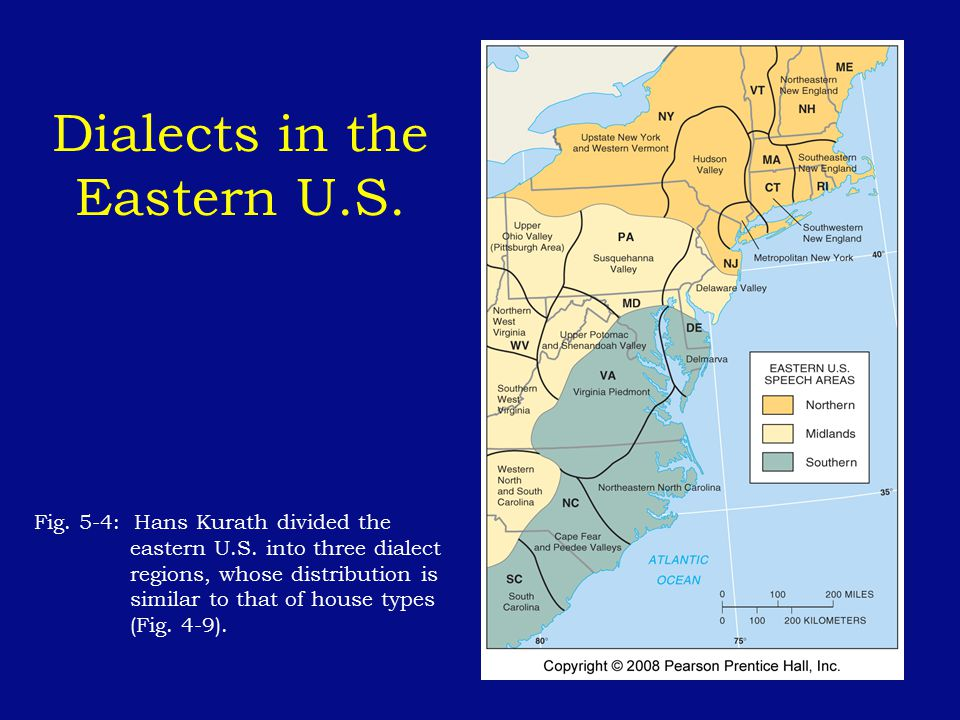 Dialects in the Eastern U.S.