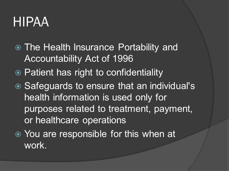 health insurance portability and accountability act of 1996 essay This chapter provides an overview of the development of the health insurance  portability and accountability act (hipaa) privacy rule and describes how it.