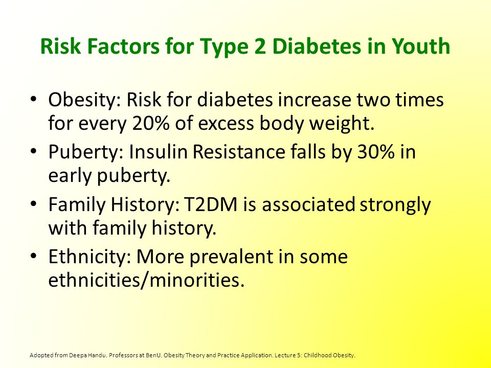 the factors that may impact type 2 diabetes and obesity Researchers have found that insufficient sleep may lead to type 2 diabetes by influencing the way the body processes glucose, the high-energy carbohydrate that cells use for fuel one short-term sleep restriction study found that a group of healthy subjects who had their sleep cut back from 8 to 4 hours per night processed glucose more slowly than.
