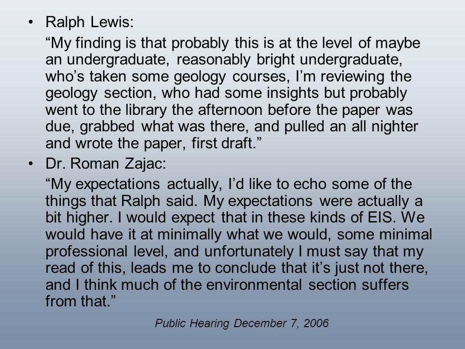 Public Hearing December 7, 2006