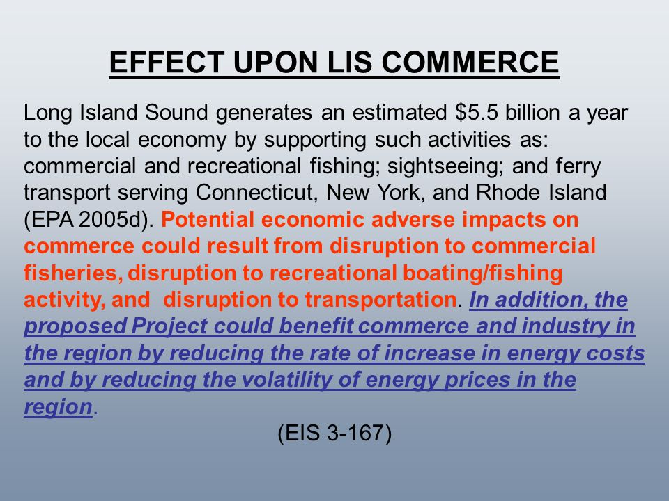 EFFECT UPON LIS COMMERCE