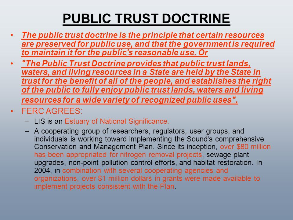 PUBLIC TRUST DOCTRINE