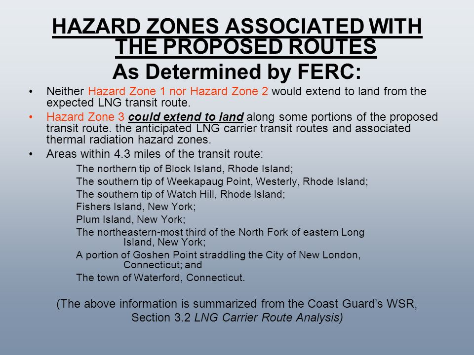 HAZARD ZONES ASSOCIATED WITH THE PROPOSED ROUTES