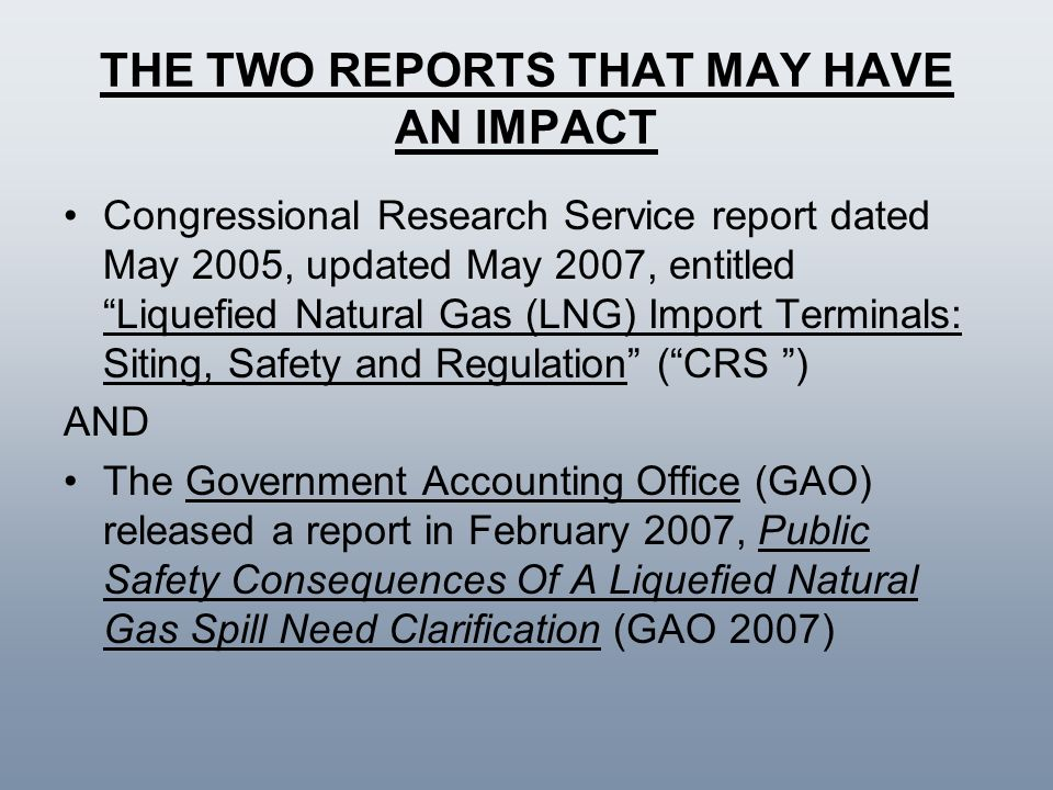 THE TWO REPORTS THAT MAY HAVE AN IMPACT