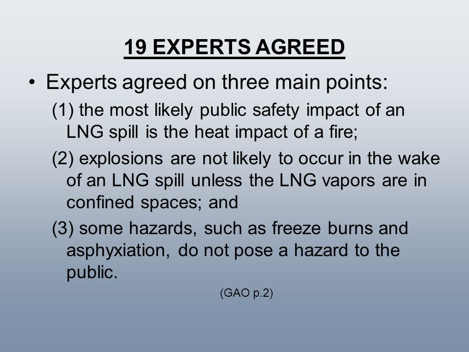 Experts agreed on three main points: