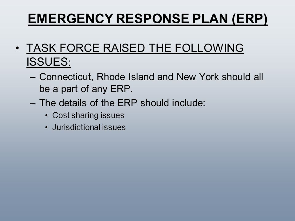 EMERGENCY RESPONSE PLAN (ERP)