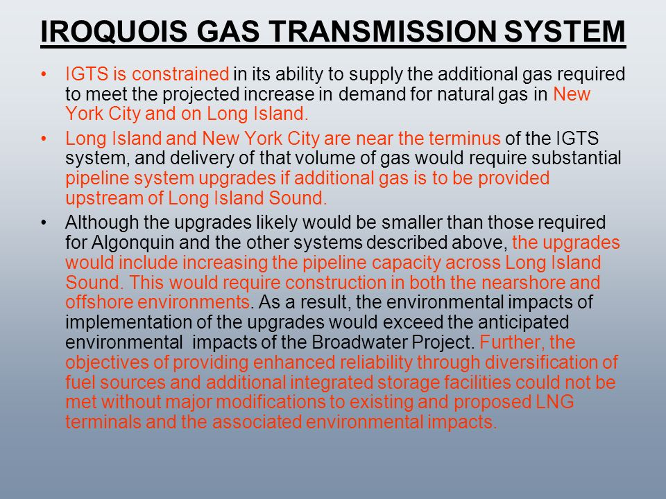IROQUOIS GAS TRANSMISSION SYSTEM