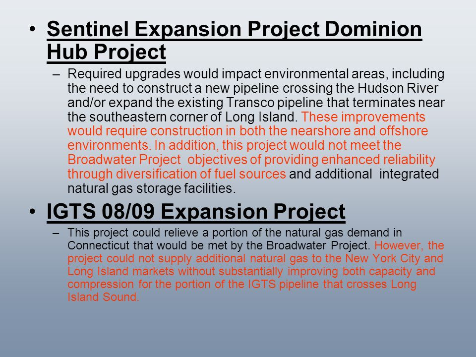Sentinel Expansion Project Dominion Hub Project