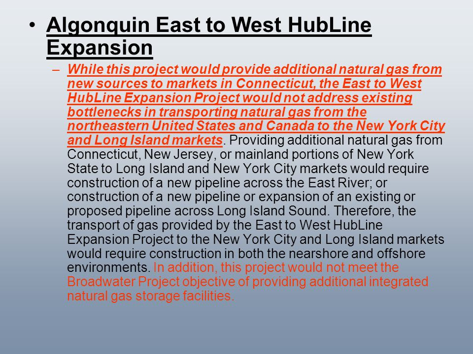 Algonquin East to West HubLine Expansion