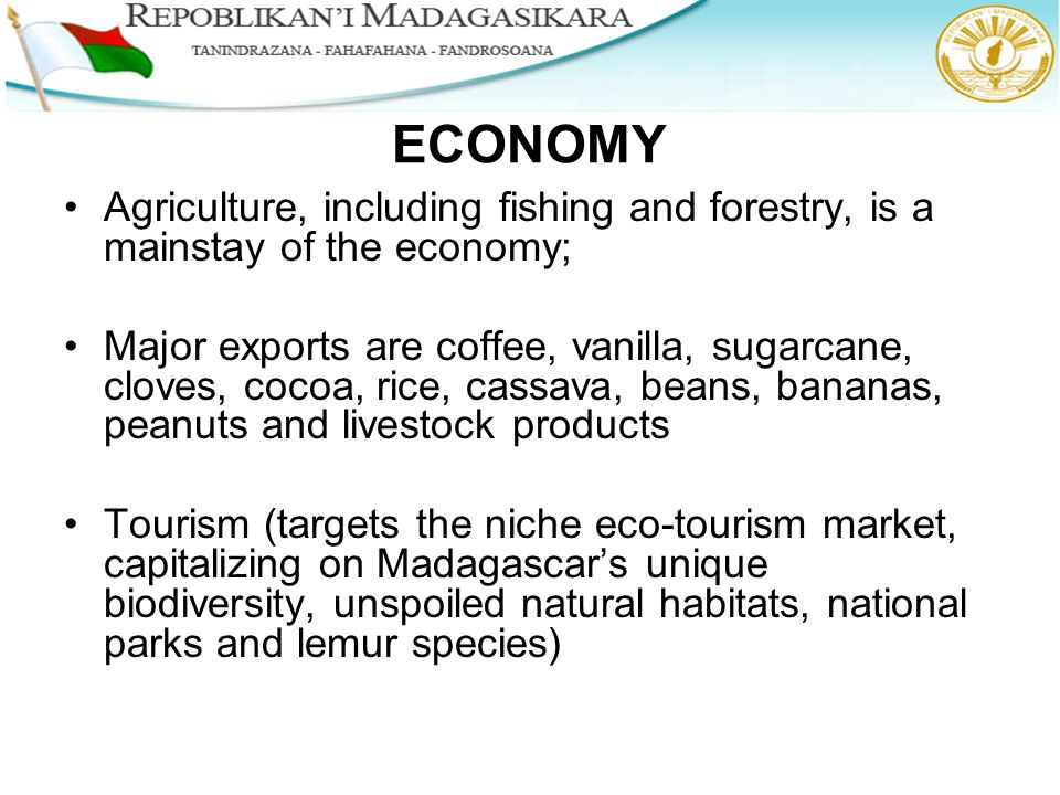 Agriculture and the national economy
