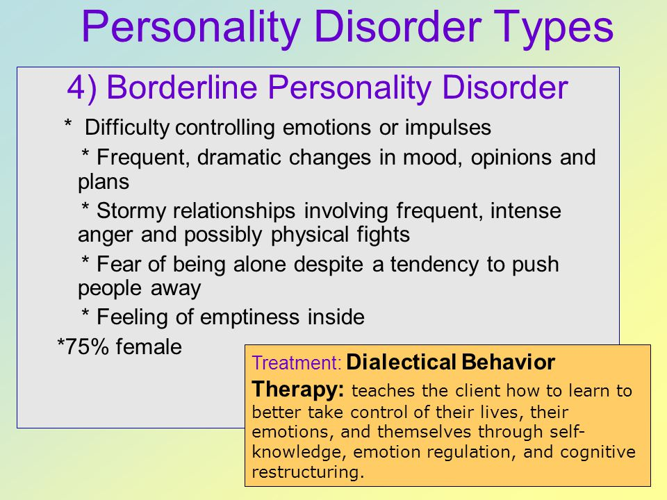 Personality Disorder Types