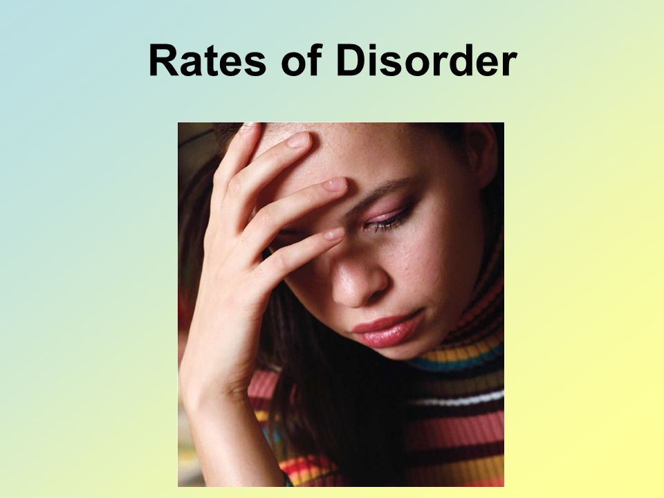 Rates of Disorder