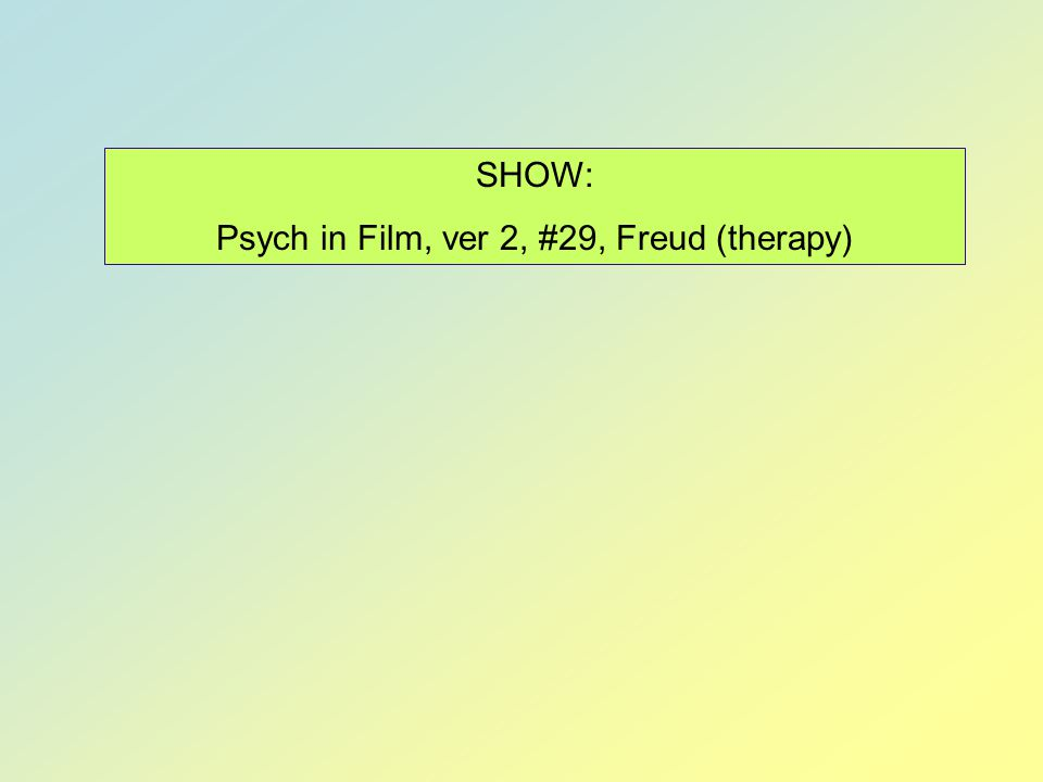 Psych in Film, ver 2, #29, Freud (therapy)
