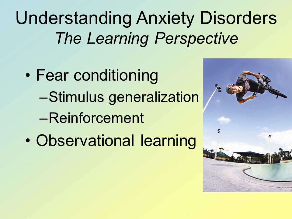 Understanding Anxiety Disorders The Learning Perspective