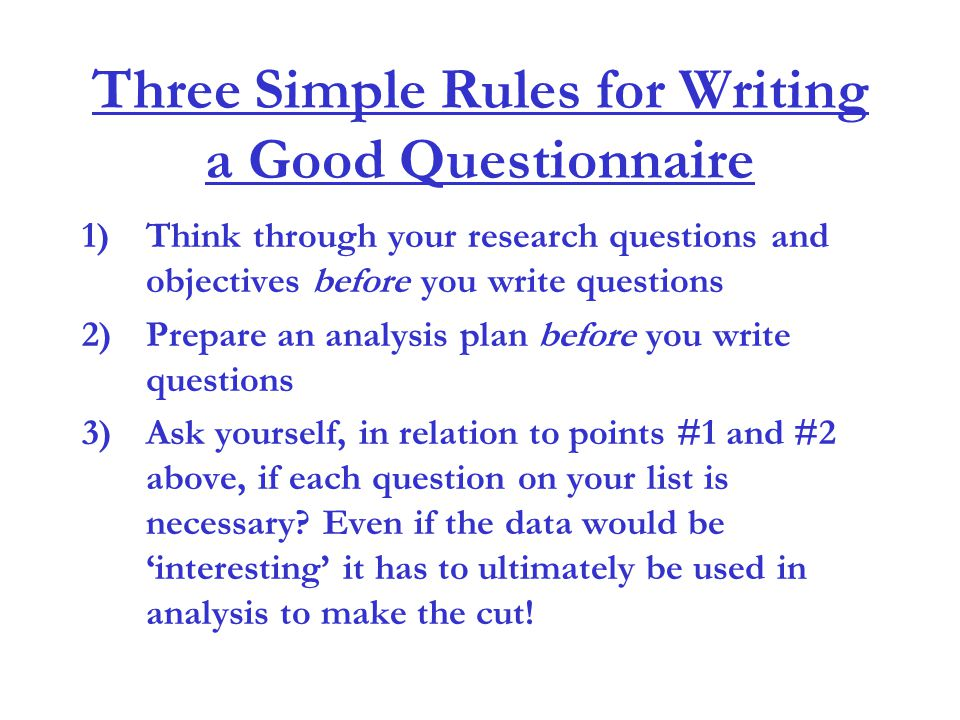 Questions to ask yourself when writing a research paper