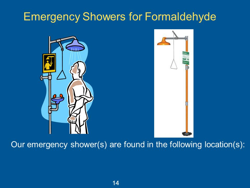 Emergency Showers for Formaldehyde