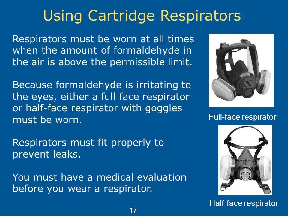 Using Cartridge Respirators