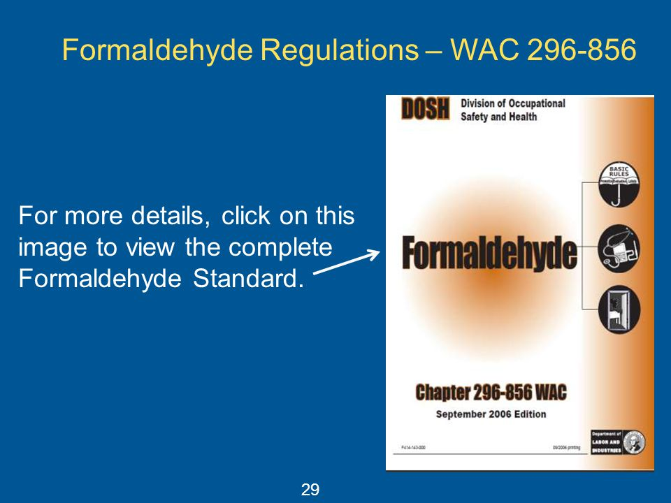 Formaldehyde Regulations – WAC
