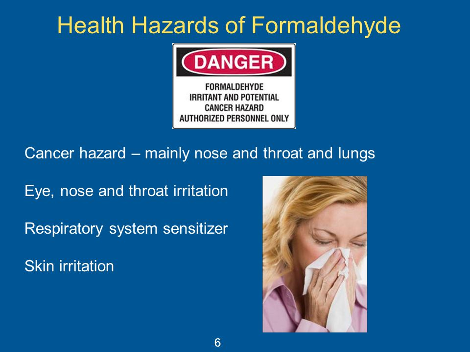 Health Hazards of Formaldehyde