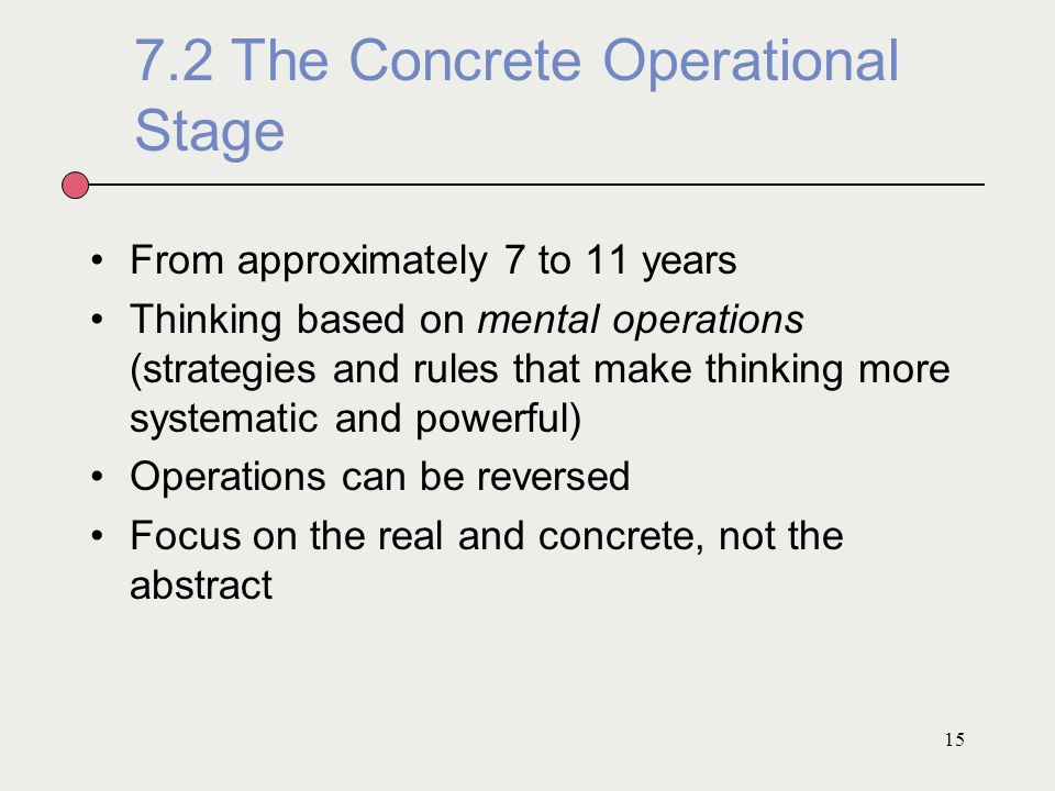 7.2 The Concrete Operational Stage