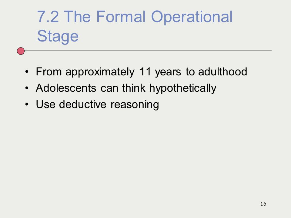 7.2 The Formal Operational Stage