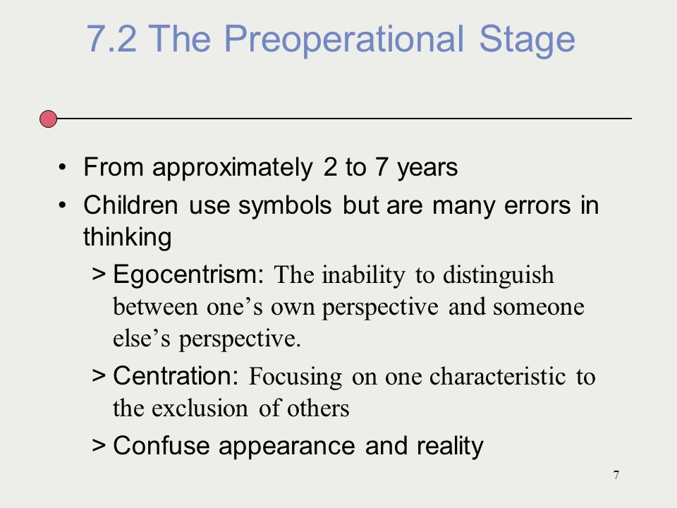 7.2 The Preoperational Stage