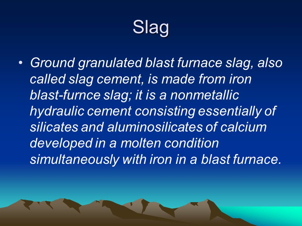 Slag Cement Density : Supplementary cementing materials ppt video online download