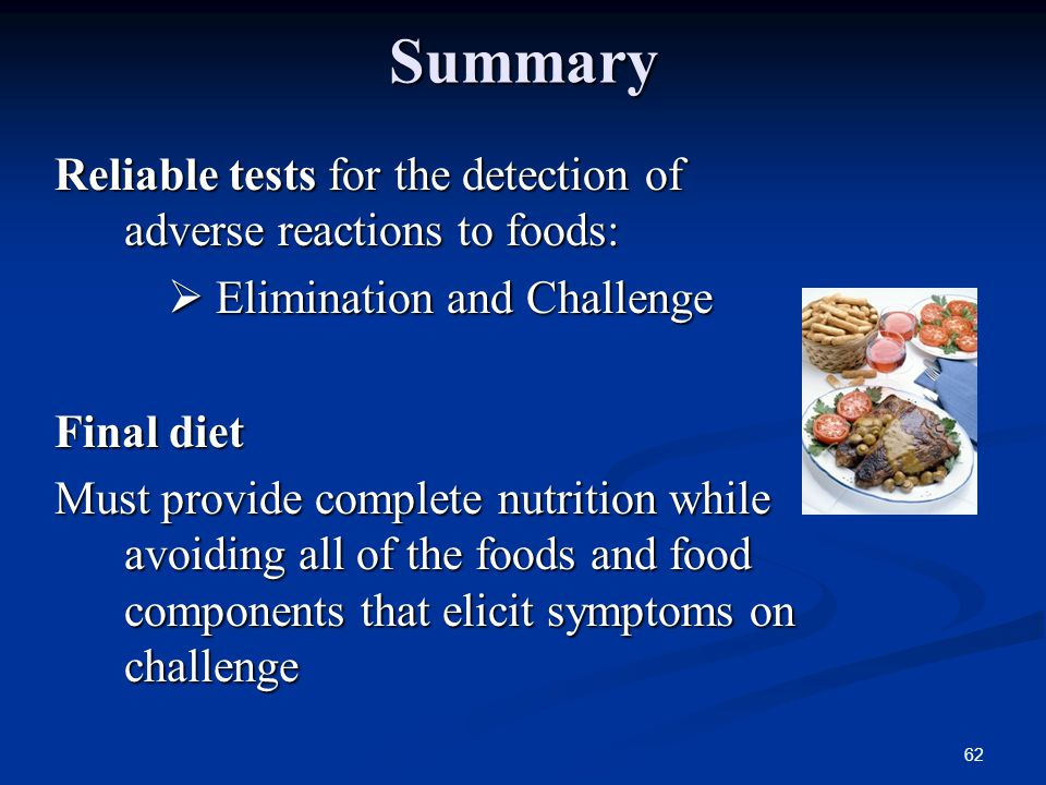 Elimination Diet And Food Challenge Test For Allergies