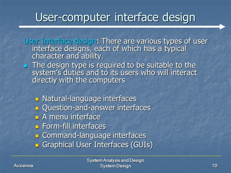 computer interface analysis The ieee computer society is the world's premier organization of computing professionals, with rich offerings in publications, standards, certifications, conferences, and.