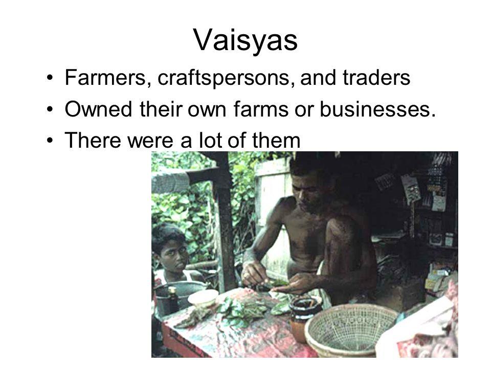 Vaisyas The Caste System. - pp...