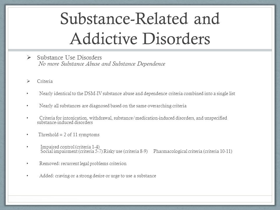 substance abuse and dependence pdf