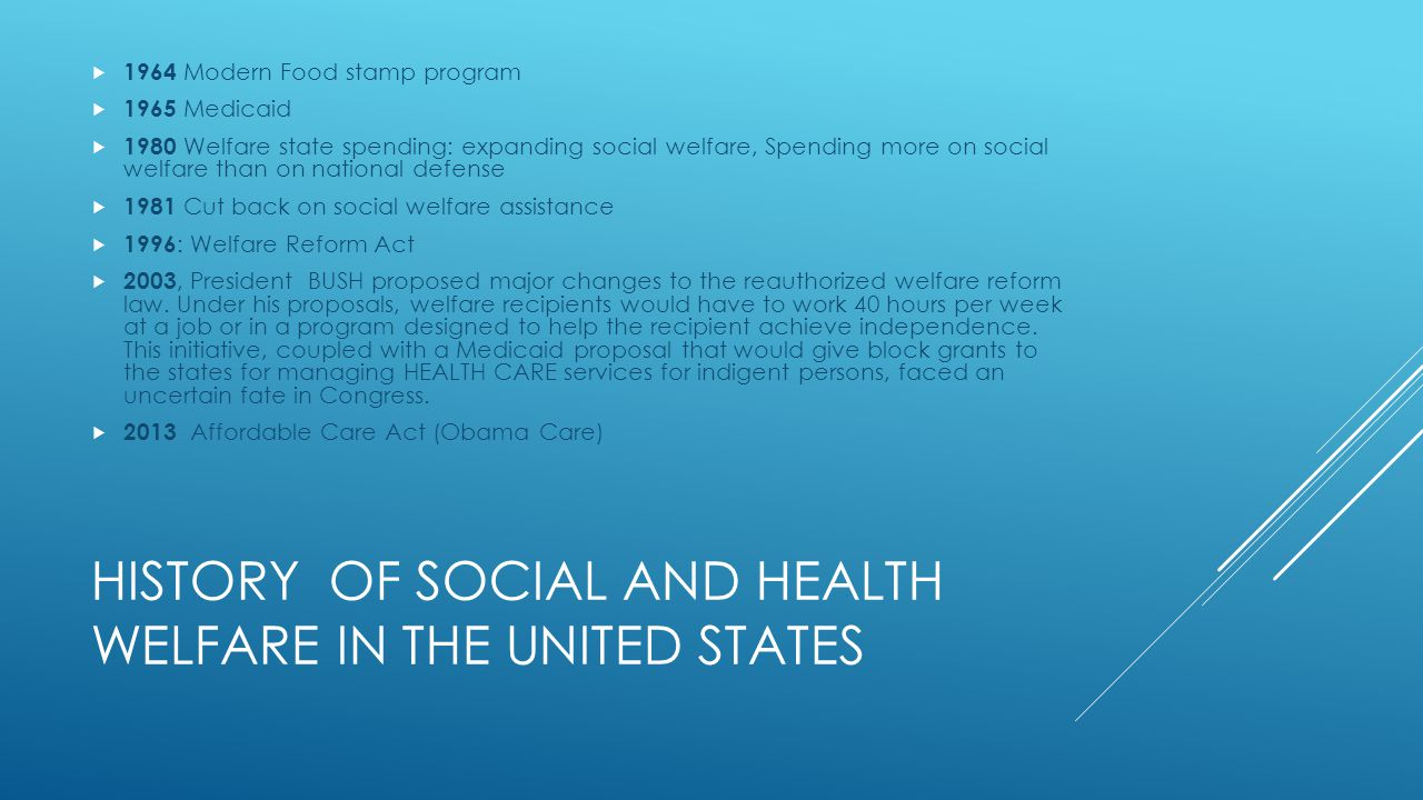 Social welfare in the us