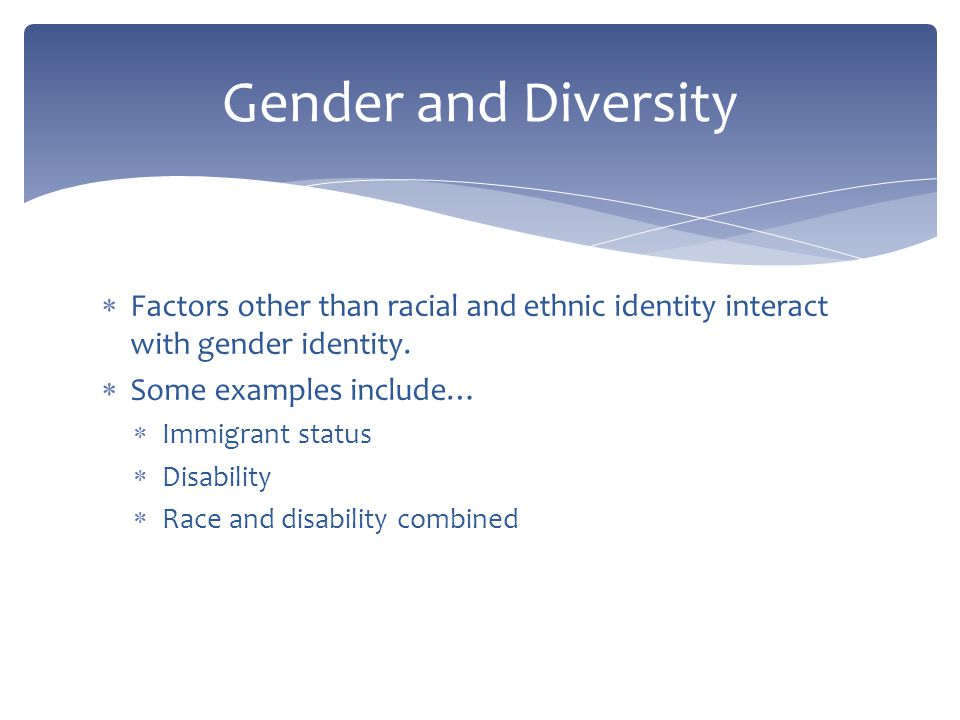 Factors that determine gender identity