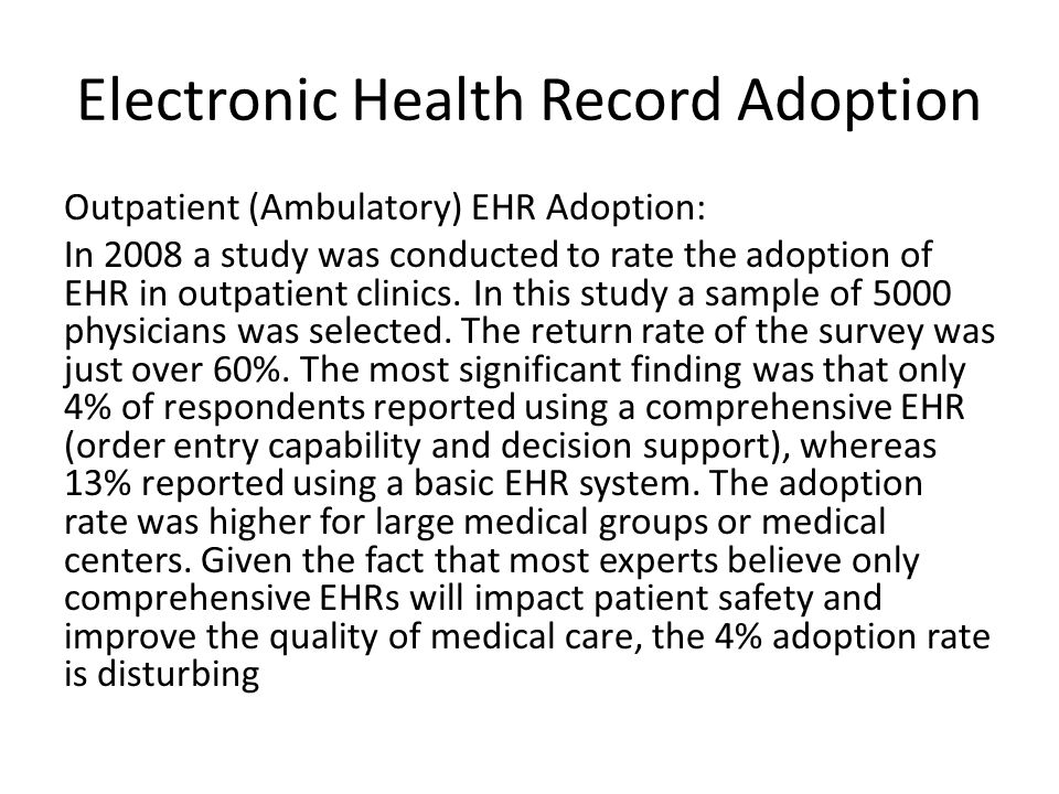 Electronic Health Record Adoption