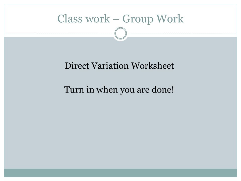 Warm Up 4 ppt download – Direct Variation Worksheet