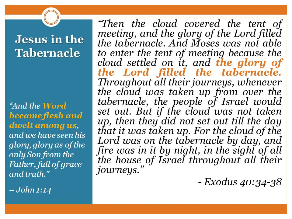 Jesus in the Tabernacle  sc 1 st  SlidePlayer & The Tabernacle Exodus ppt video online download