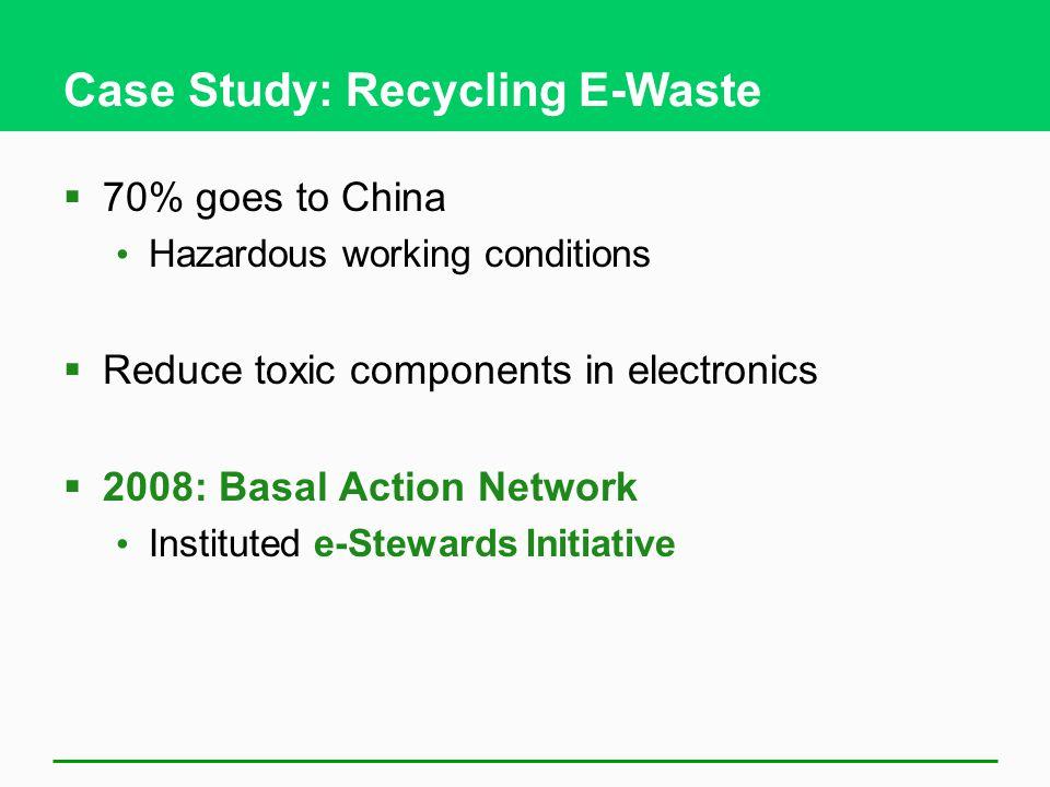 recycling case studies uk