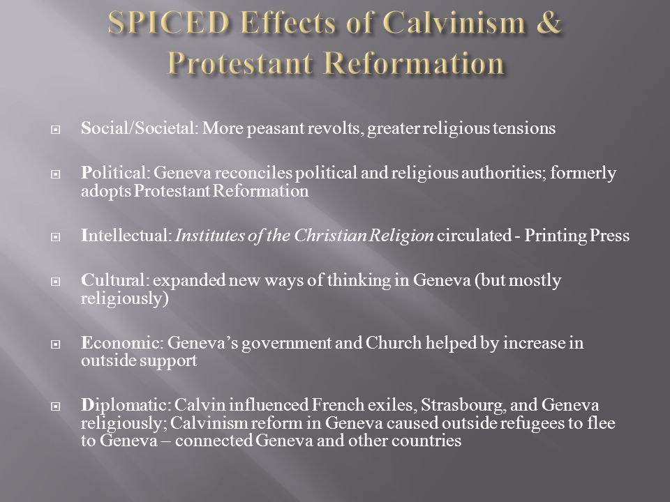 political and social consequences protestant reformation Get an answer for 'what effect did the protestant reformation have on political life in  but also social and economic reformation  political consequences.