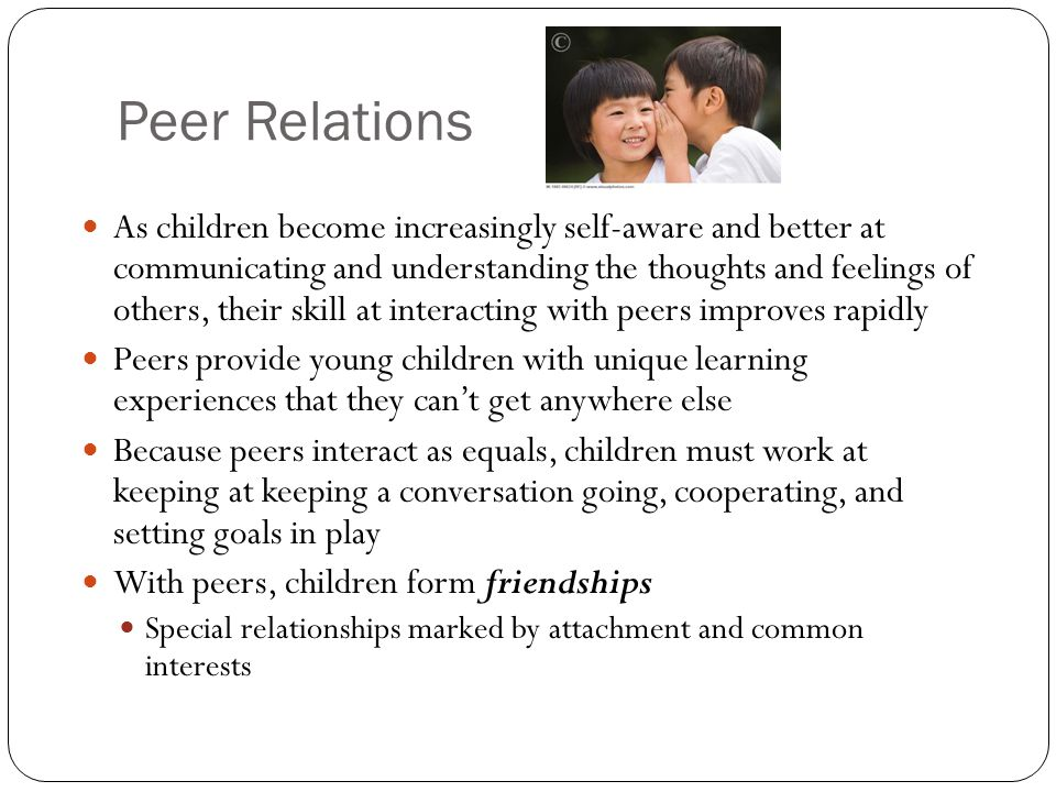 near peer relationship in early childhood
