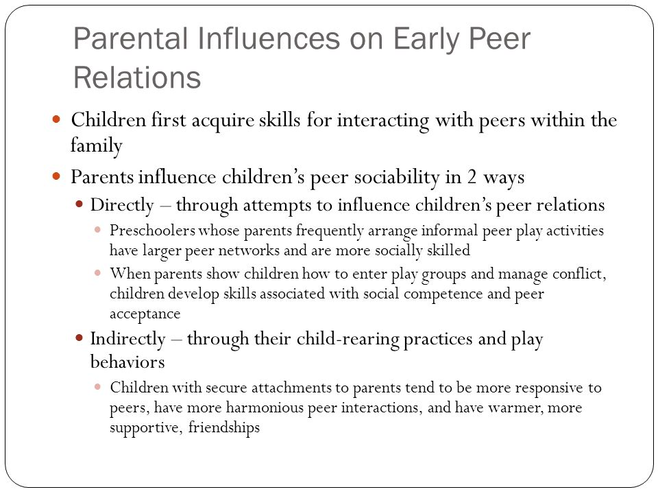 an analysis of the peer relationships in preadolescence Read chapter the development of delinquency: family and peer relationships find that rates of offending begin to rise in preadolescence or early.