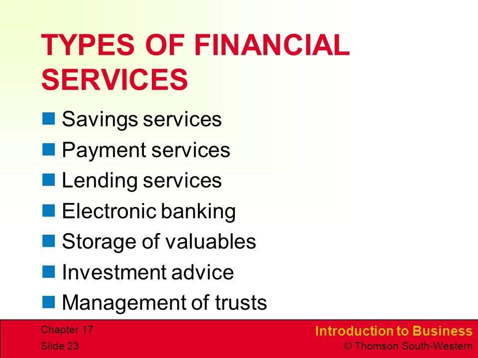 classification of financial services Learn what is financial risk and its different types like market, credit, liquidity and operational risk with definition and examples.