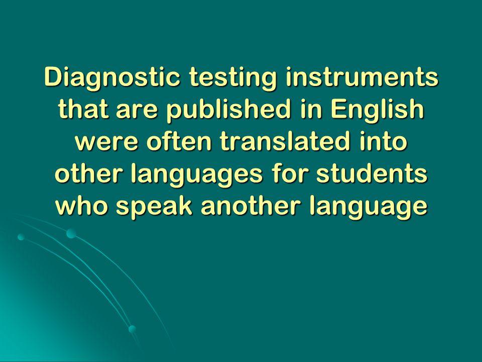 diagnostic evaluation in education pdf