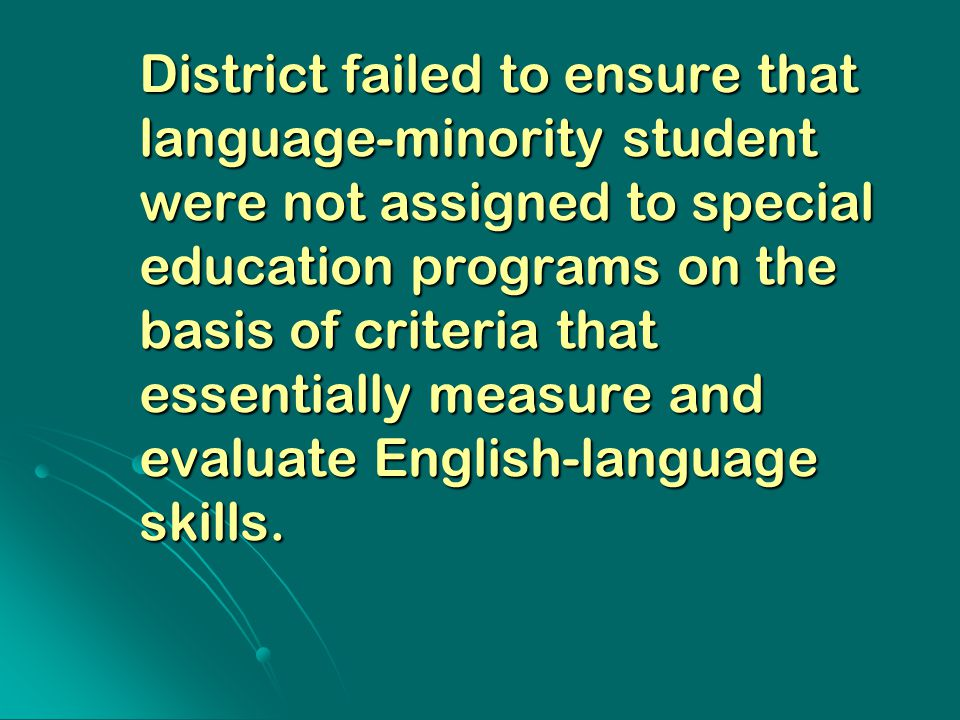 """minority students in special education programs essay Multicultural education refers to any form of education or teaching that  incorporates  and """"exceptionality""""—a term applied to students with specialized  needs or disabilities  although it began with the african-american community,  the  in addition, there are now educational programs, such as ethnic and."""